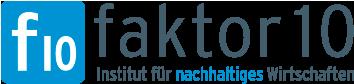 Logo Faktor 10 – Institut für nachhaltiges Wirtschaften